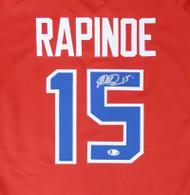 Team USA Megan Rapinoe Autographed Red Jersey Beckett BAS Stock #155791