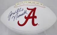 "Joe ""Willie"" Namath Autographed Alabama Crimson Tide White Logo Football JSA #WP424442"