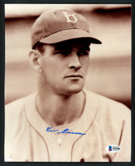 Lee Grissom Autographed 8x10 Photo Brooklyn Dodgers Beckett BAS #Q03086