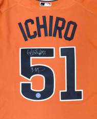 "Seattle Mariners Ichiro Suzuki Autographed Orange 2007 All Star Majestic Cool Base Jersey ""#51 & MVP"" Size XL IS Holo Stock #156465"