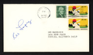 Al Lopez Autographed 3.5x6.5 Postal Cover Chicago White Sox Signed Twice SKU #156648