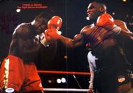 Mike Tyson & Frank Bruno Autographed Magazine Poster Photo Vintage PSA/DNA #T19783