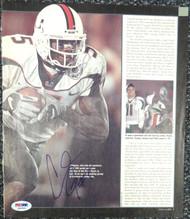 Andre Johnson Autographed Magazine Page Photo Miami Hurricanes PSA/DNA #S40864