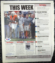 Andre Johnson Autographed Magazine Page Photo Miami Hurricanes PSA/DNA #S40863