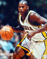 Al Harrington Autographed 16x20 Photo Indiana Pacers PSA/DNA #T14436