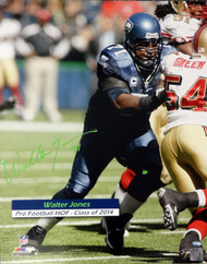 Walter Jones Autographed 16x20 Photo Seattle Seahawks MCS Holo #19458