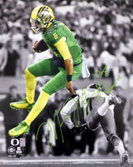 "Marcus Mariota Autographed 16x20 Photo Oregon Ducks ""Heisman 14"" MM Holo #18085"