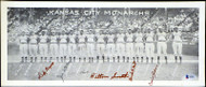 Kansas City Monarchs Autographed 7x17 Poster Photo Negro Leagues With 5 Total Signatures Including Hilton Smith Beckett BAS #A54511