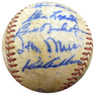1950 Spring Training Autographed Official Baseball With 20 Total Signatures Including Stan Musial & Enos Slaughter Beckett BAS #A52632