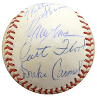 1960 Spring Training Autographed Official Baseball With 28 Total Signatures Including Curt Flood Beckett BAS #A52652