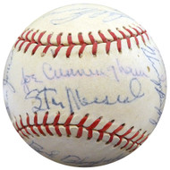 1957 St. Louis Cardinals Autographed Official Baseball With 30 Total Signatures Including Stan Musial & Fred Hutchinson Beckett BAS #A52660