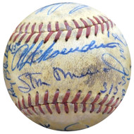 1951 St. Louis Cardinals & Cincinnati Reds Autographed Official Baseball With 23 Total Signatures Including Stan Musial Beckett BAS #A52633
