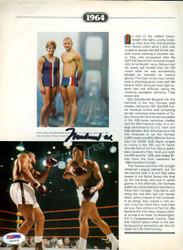 Muhammad Ali Autographed Magazine Page Photo PSA/DNA #G43436