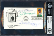 Joe DiMaggio, Dom DiMaggio & Vince DiMaggio Autographed First Day Cover DiMaggio Brothers Beckett BAS #11628551