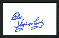 Alex Wojciechowicz Autographed 3x5 Index Card Detroit Lions SKU #158106