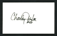 Charley Taylor Autographed 3x5 Index Card Washington Redskins SKU #158112