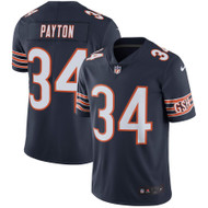 Walter Payton Unsigned Chicago Bears Blue Twill Nike Size XL Stock #158822