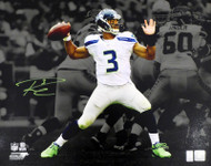 Russell Wilson Autographed 16x20 Photo Seattle Seahawks 2012 First Game Spotlight RW Holo Stock #159122