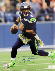 Russell Wilson Autographed 16x20 Photo Seattle Seahawks RW Holo Stock #159123