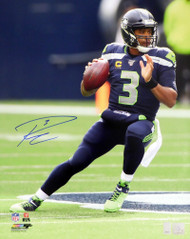 Russell Wilson Autographed 16x20 Photo Seattle Seahawks RW Holo Stock #159124