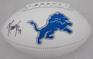 Kenny Golladay Autographed Detroit Lions White Logo Football Beckett BAS Stock #159173