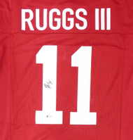 Alabama Crimson Tide Henry Ruggs III Autographed Red Jersey Beckett BAS Stock #159238