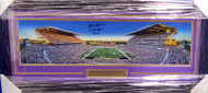 "Warren Moon Autographed University Of Washington Huskies Framed Panoramic Photo ""78 Rose Bowl MVP"" MCS Holo Stock #159400"