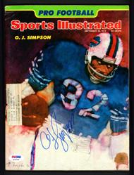 O.J. OJ Simpson Autographed Sports Illustrated Magazine Buffalo Bills PSA/DNA #S25548
