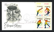 Harrison Dillard Autographed First Day Cover 1948 & 1952 Olympics SKU #159551