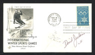David Jenkins Autographed First Day Cover 1960 Olympics SKU #159570