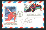 """Dan Jansen Autographed First Day Cover 1994 Olympics """"94 Gold"""" SKU #159616"""
