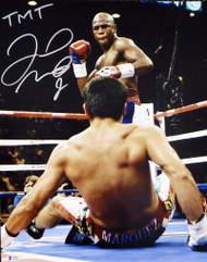 "Floyd Mayweather Jr. Autographed 16x20 Photo ""TMT"" Beckett BAS Stock #159711"