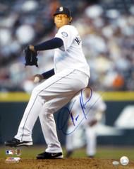 Felix Hernandez Autographed 16x20 Photo Seattle Mariners MCS Holo #72473