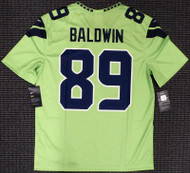 Doug Baldwin Unsigned Seattle Seahawks Action Green Nike Jersey Size M Stock #159830