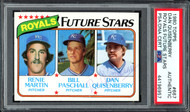 Dan Quisenberry Autographed 1980 Topps Rookie Card #667 Kansas City Royals PSA/DNA #44196957