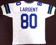 Seattle Seahawks Steve Largent Unsigned White Jersey For Upcoming Signing