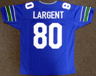 Seattle Seahawks Steve Largent Unsigned Blue Jersey For Upcoming Signing