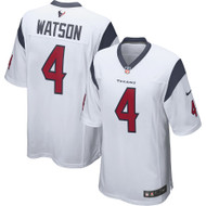 Deshaun Watson Unsigned Houston Texans White Twill Nike Size L SKU #159867