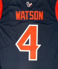 Deshaun Watson Unsigned Houston Texans Blue / Red Twill Nike Size L SKU #159869