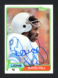 David Hill Autographed 1981 Topps Card #485 Detroit Lions SKU #160328