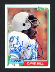 David Hill Autographed 1981 Topps Card #485 Detroit Lions SKU #160329