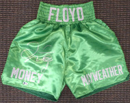 Floyd Mayweather Jr. Autographed Green Boxing Trunks Beckett BAS #I83837