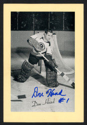 Don Head Autographed 1944-63 Beehive 4.5x6.5 Photo Boston Bruins SKU #160631