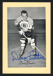 Dean Prentice Autographed 1944-63 Beehive 4.5x6.5 Photo Boston Bruins SKU #160636