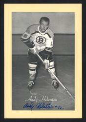 Andy Hebenton Autographed 1944-63 Beehive 4.5x6.5 Photo Boston Bruins SKU #160637