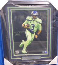 Russell Wilson Autographed Framed 16x20 Photo Seattle Seahawks RW Holo Stock #160826