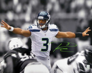 Russell Wilson Autographed 16x20 Photo Seattle Seahawks First Game RW Holo Stock #160944