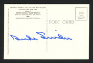 Duke Snider Autographed HOF Plaque Postcard Brooklyn Dodgers Signed on Back Lot of 4 SKU #161581