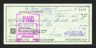 Floyd Patterson Autographed 3x6 Check SKU #163677