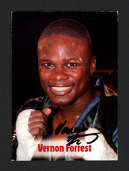 Vernon Forrest Autographed 2001 Brown's Boxing Rookie Card #30 JSA #G13932